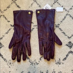 Aubergine Cashmere Lined Gloves